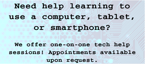 One-on-One Technology Help Sessions
